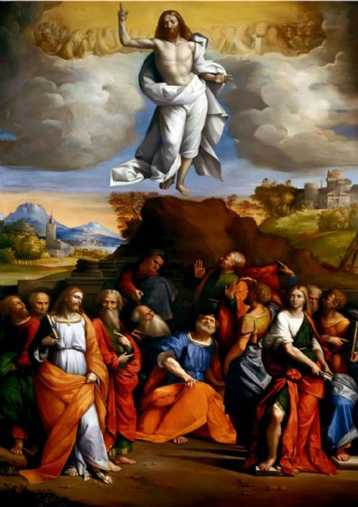 Garofalo, Benvenuto Tisi da: The Ascension of Christ. Religious/Christian Fine Art Print/Poster. Sizes: A4/A3/A2/A1 (001295)